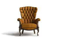 Fauteuil en cuir de Brown Photos libres de droits