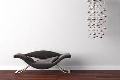 Fauteuil et lampe de conception intérieure Photo stock
