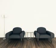 fauteuil intérieur moderne minimal Image stock