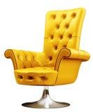 Fauteuil jaune avec le chemin de découpage 3d Image libre de droits
