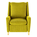 Fauteuil jaune simple d'isolement Front View illustration 3D Photographie stock libre de droits