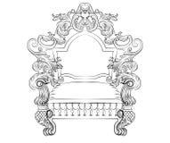 Fauteuil rococo baroque illustration de vecteur