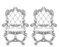 Fauteuil rococo baroque illustration stock