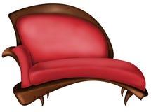 Fauteuil rouge Photographie stock libre de droits