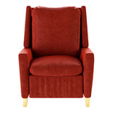 Fauteuil rouge simple d'isolement Front View 3d Photographie stock