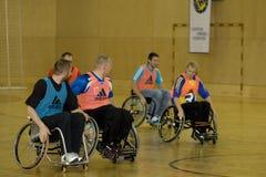 fauteuil roulant 2008 de handball d'événement Photographie stock libre de droits