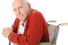 fauteuil roulant aîné beau de citoyen Images libres de droits