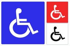 Fauteuil roulant d'handicap Photos stock