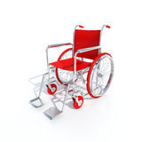 Fauteuil roulant rouge Image stock