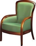 Fauteuil vert Photo stock