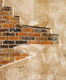 Faux Brick Wall. Faux Brick  and Concrete Wall Background Texture Royalty Free Stock Image