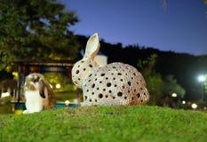 Faux contre le vrai lapin, Thaïlande Photographie stock