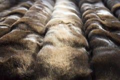 Faux di Brown o pelliccia artificiale Struttura Immagini Stock Libere da Diritti