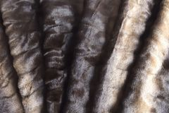 Faux di Brown o pelliccia artificiale Struttura Fotografia Stock Libera da Diritti