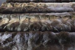 Faux di Brown o pelliccia artificiale Struttura Immagini Stock