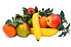 Faux Fruits and vegetables. Fruits and vegetables, fresh food Royalty Free Stock Photos