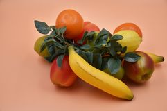 Faux Fruits and vegetables. Fruits and vegetables, fresh food Royalty Free Stock Photography