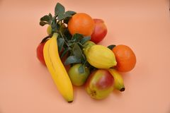 Faux Fruits and vegetables. Fruits and vegetables, fresh food Stock Photography