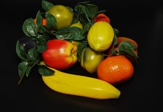 Faux Fruits and vegetables. Fruits and vegetables, fresh food Stock Images