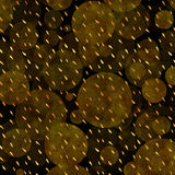 Faux Gold Foil Glitter Polka Dots Black Background. Faux Gold Foil Polka Dots Glitter on Black Texture Pattern royalty free stock image