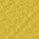 Faux Gold Foil Glitter Polka Dots Pattern Stock Photo