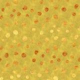 Faux Gold Foil Glitter Polka Dots Pattern Stock Image