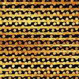 Faux Gold Foil Glitter Stripes Polka Dots Royalty Free Stock Images