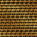 Faux Gold Foil Glitter Stripes Polka Dots Pattern Stock Image