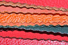 Faux Leather Swatches Stock Image