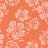 Faux Linen Hawaiian Background Pattern Royalty Free Stock Photos