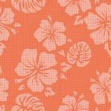 Faux Linen Hawaiian Background Pattern Royalty Free Stock Photos
