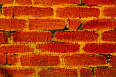 Faux painted brick wall Stock Photos