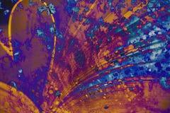 Fauxtextur som målas av målarfärg Royaltyfria Foton