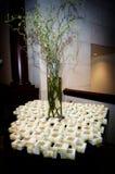 favörer table överträffat bröllop Royaltyfria Foton