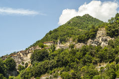 Favalanciata, village along the Salaria road Royalty Free Stock Images