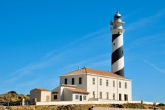 Favaritx beacon in Menorca Spain Stock Images
