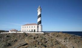 Favaritx fyr, Menorca, Spanien Arkivbilder