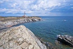 Favaritx lighthouse Stock Photography