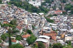 Favela在里约 免版税库存照片