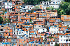 Favela,巴西贫民窟在里约热内卢 免版税图库摄影