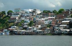 Favela на Амазонке в Манаус Стоковая Фотография