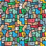 巴西favela 明亮的色的无缝的模式 免版税库存图片