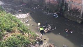 Favela area Brazil stock video footage