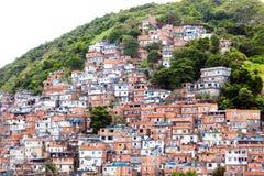 Favela, Brazilian slum on a hillside in Rio de Janeiro Stock Images