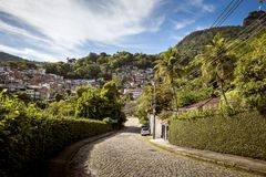 Favela in Cosme Velho district of Rio de Janeiro Stock Photo