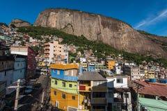 Favela da Rocinha in Rio de Janeiro royalty free stock photo