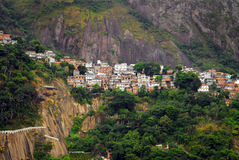 Favela del Rio de Janeiro (bassifondi) Fotografia Stock