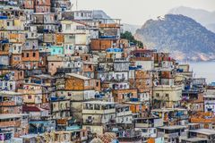 Favela di Cantagalo fotografia stock