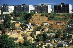 Favela en Salvador, el Brasil Imagen de archivo