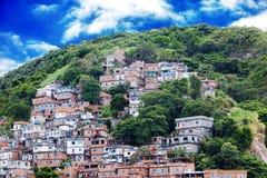 Favela on hillside in Rio de Janeiro, Brazil Stock Photo